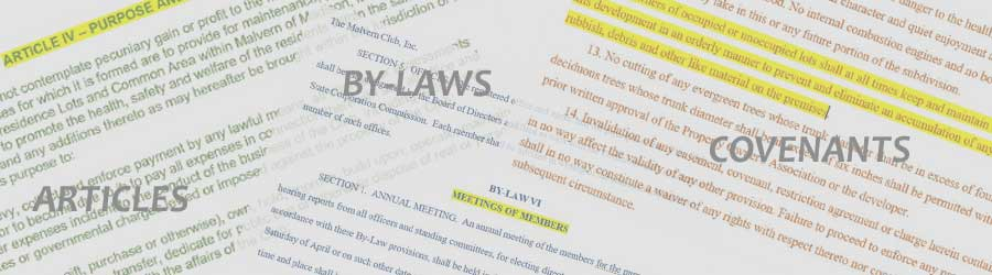 By-laws, Covenants
